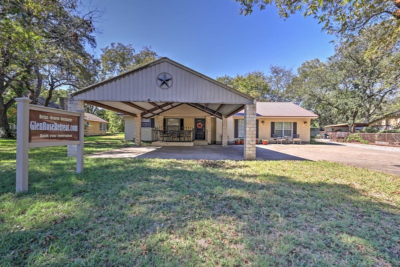 The possibilities for  fun are endless at this Glen Rose vacation rental house!