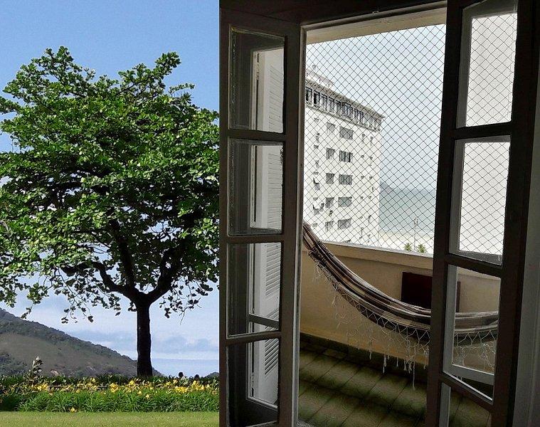 Vista ao mar, meia quadra da praia, aconchegante!, aluguéis de temporada em Santos