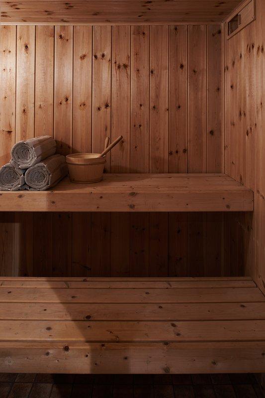 Sauna in cantina.