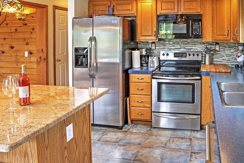 Demuestra tus habilidades en la cocina en la cocina totalmente equipada.