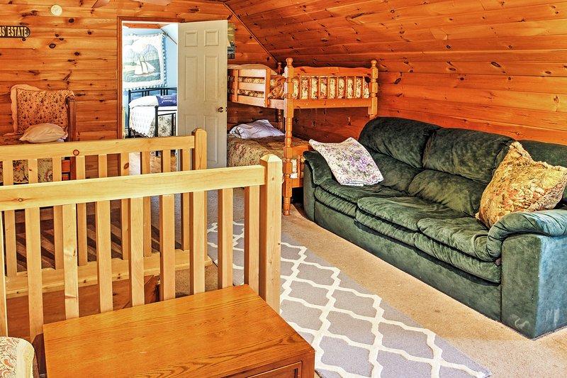 El loft ofrece un montón de espacio adicional para dormir.