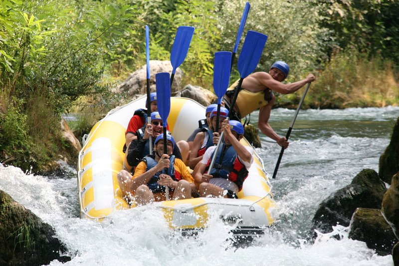 Rafting on the river Cetina for a full adventure and adrenaline experience.