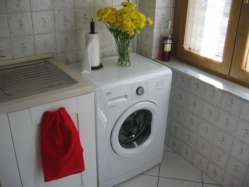Novas máquina de lavar roupa.