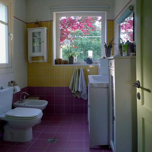 Bathroom on the first floor with shower