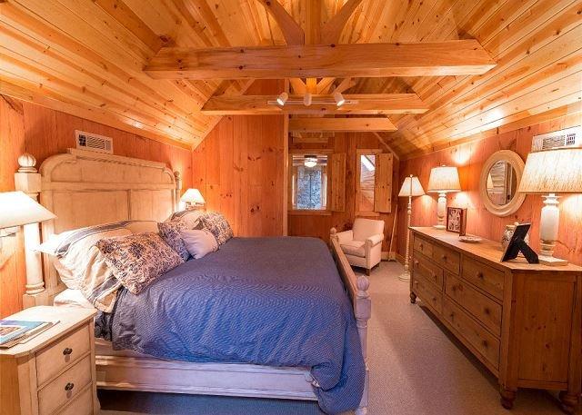 King bedroom in loft.