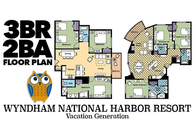 As plantas baixas e layouts para 3 quartos condomínios. Por favor note que layouts e decoração variar.
