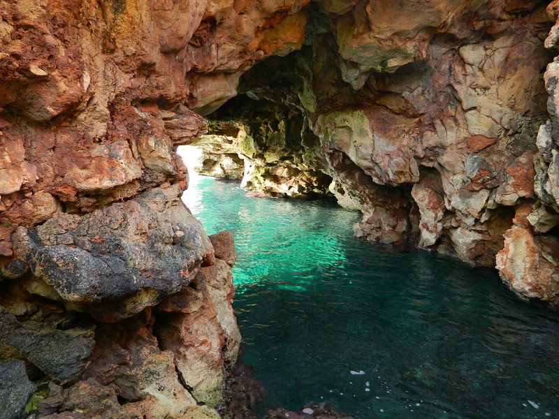 The secret cave in to to the swimming cove in front of the villa - great adventures to be had here
