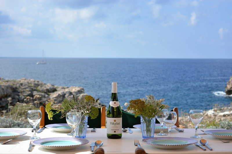 The view from Villa Feliz ... just 50m from the sea with an unobstructed and peaceful view over the