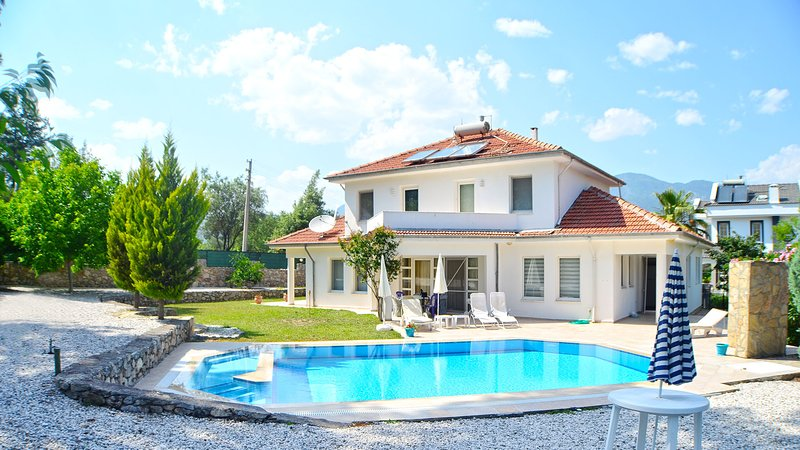Secluded villa with a private pool and garden, location de vacances à Yesiluzumlu