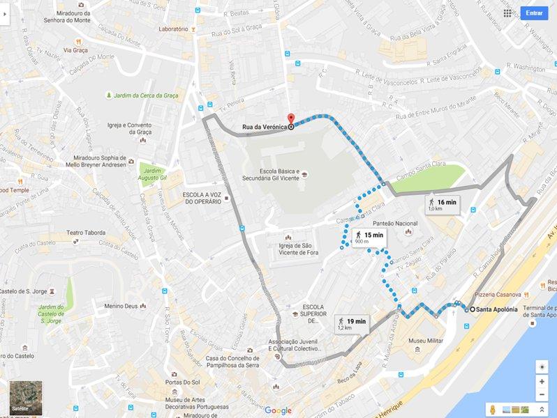 Las rutas de metro y de tren / Camino a Undergroud y el tren