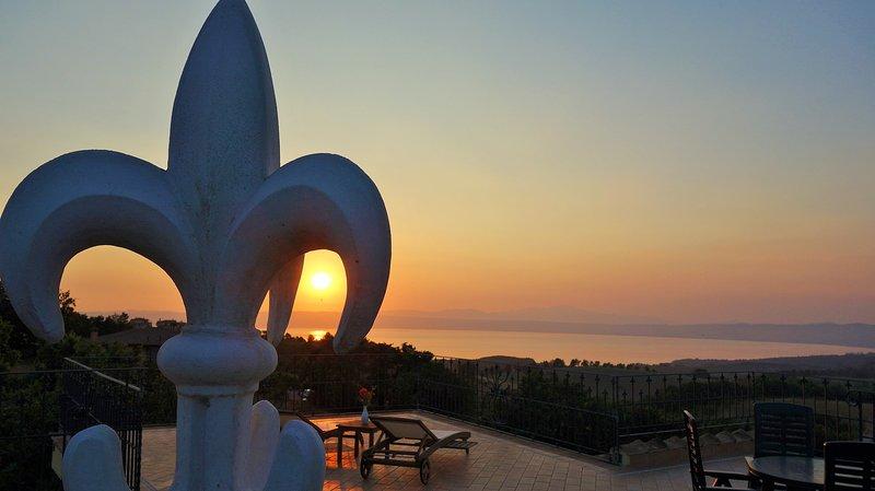 belvedere terrace at sunset