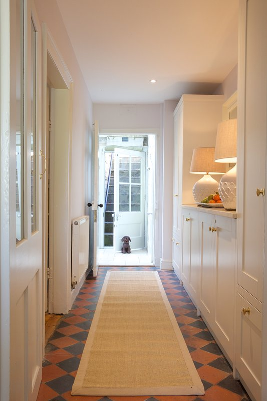 Front Hall leading to terraced garden and stunning summerhouse to view the Bath Hills from