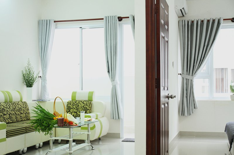 Tranquil furnished condo, direct seaview from bed, holiday rental in Long Hai