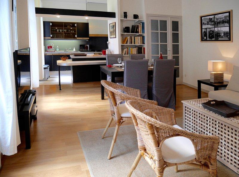 Clarté, charme, tranquillité au coeur de Bergerac, location de vacances à Ville de Bergerac