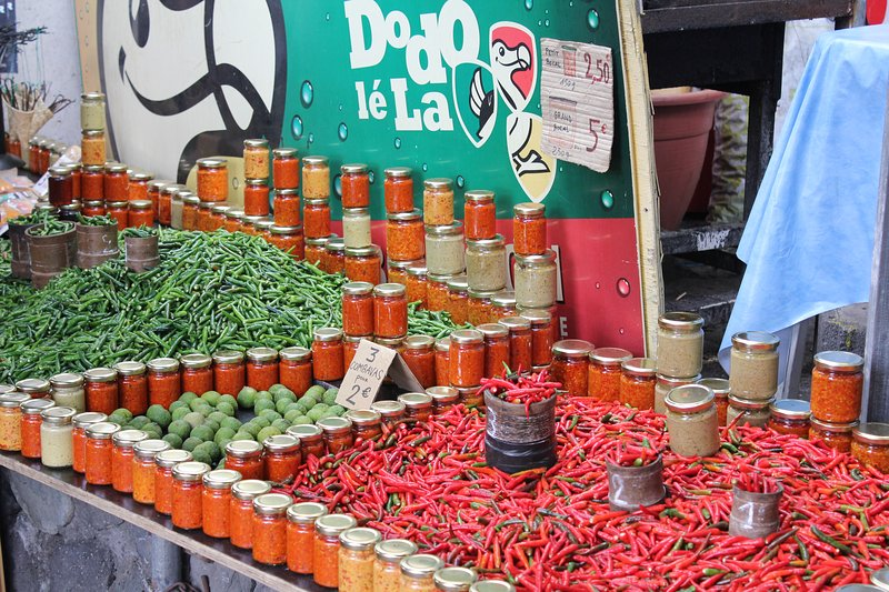 At 15 minutes, the open market of St Pierre