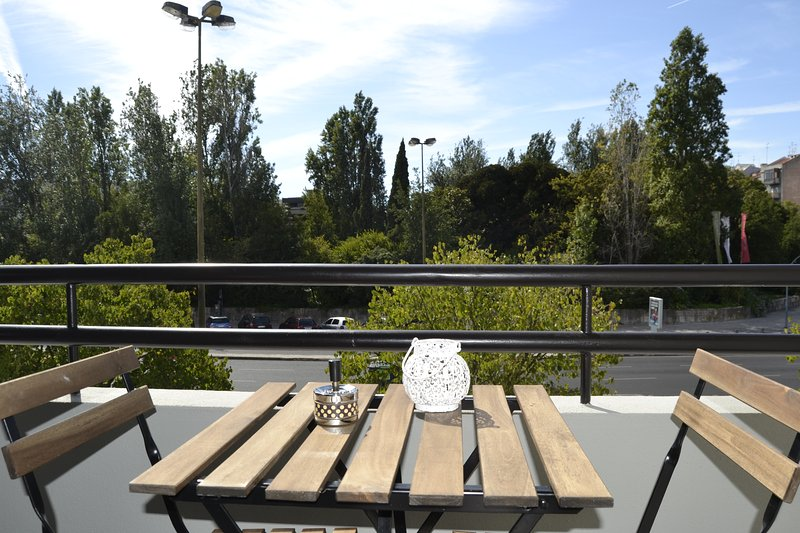 Balcony overlooking the Gulbenkian
