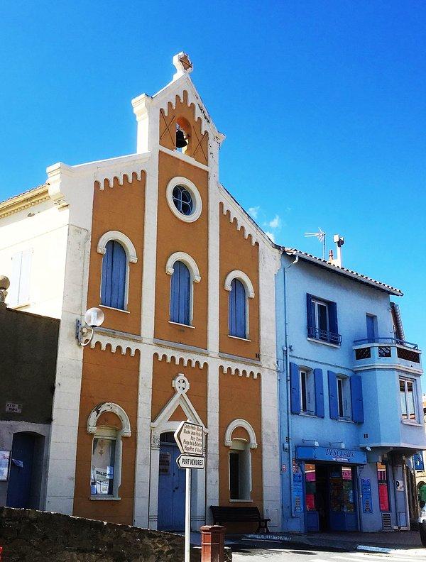 Collioure avec le célèbre magasin d'anchois et de l'usine