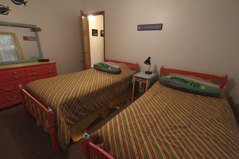 The kids' room is colorful and fun!