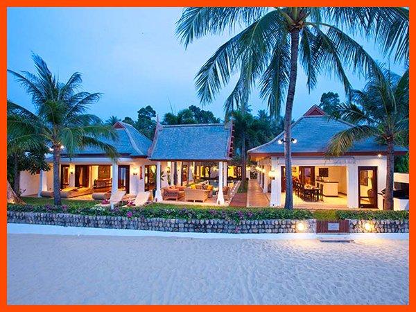 Villa 17 - Beach front luxury with Thai chef service and shared gym, aluguéis de temporada em Mae Nam
