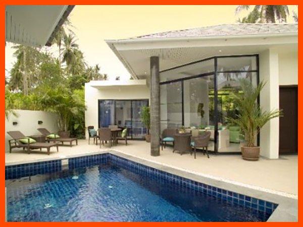 Villa 109 - Walk to beach swim play drink eat sleep walk to villa jump in pool, vacation rental in Choeng Mon