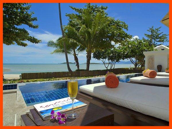 Villa 12 - Great value beach front villa with private pool, alquiler vacacional en Plai Laem