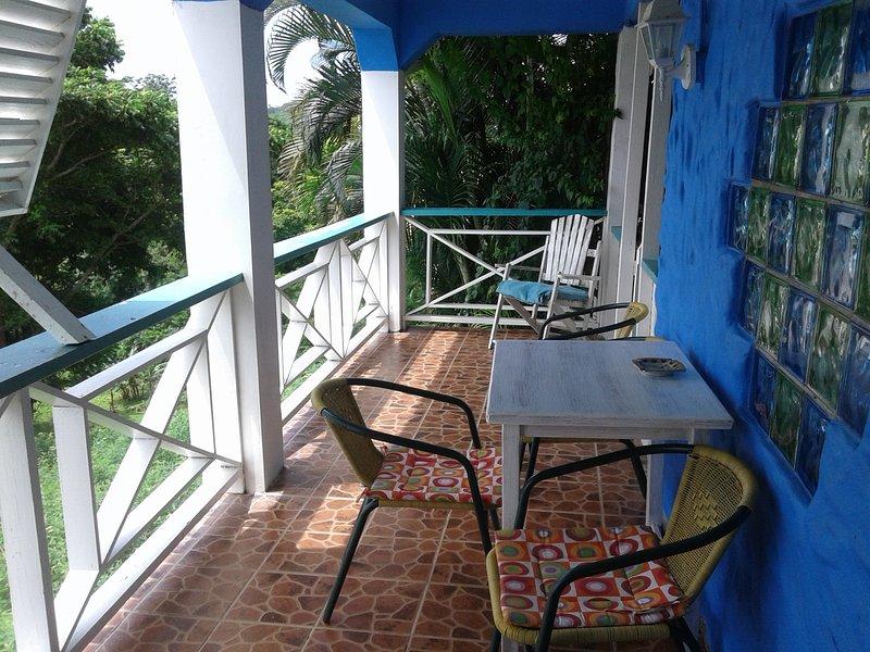 il patio e zona pranzo