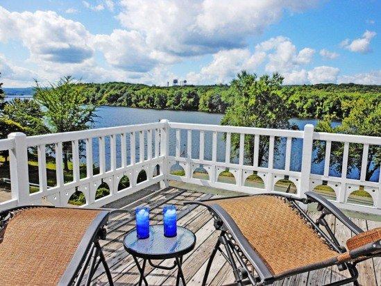 splendida vista del fiume dal ponte 3 ° piano camera da letto matrimoniale
