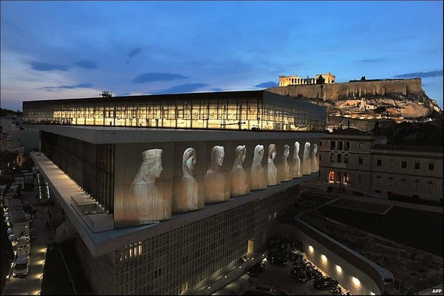 Akropolis museum and Parthenon