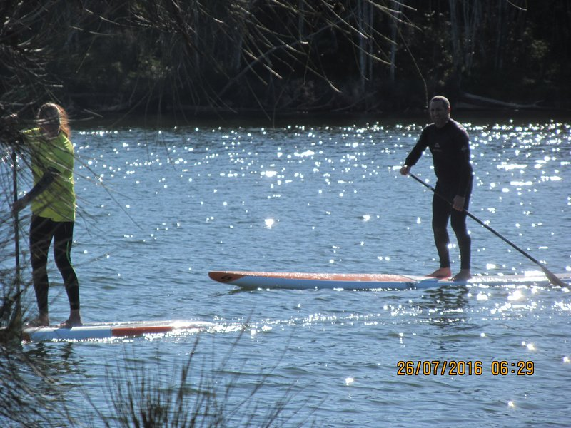 Narrabeen Lakes at 800m from facility - Paddle Boarding.