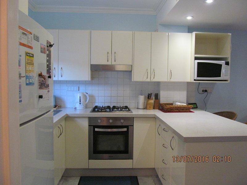 Küchenbereich bereit für Ihre Gourmet Kochen.