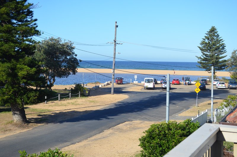 View to Beach and Lake from Upstairs Deck