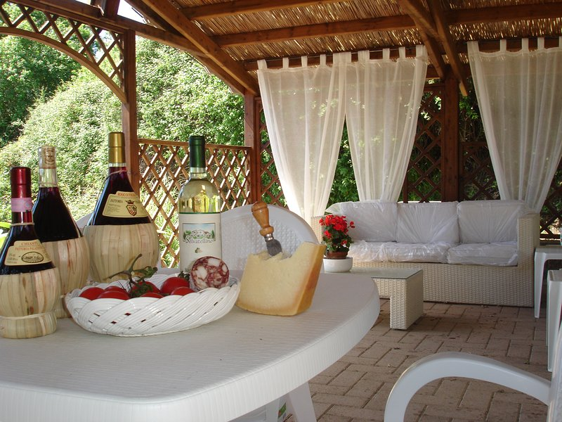 relaxation area by the pool