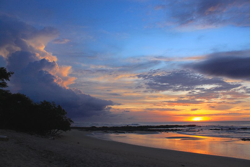 Gorgeous Sunsets on 1 of 3 Nearly-Private Beaches within Hacienda Pinilla