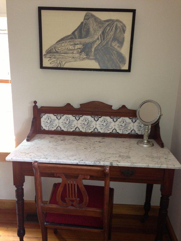 Vanity/desk in king bedroom.