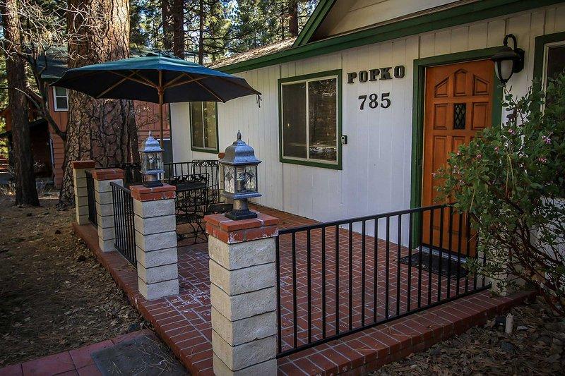 Vid, cubierta, porche, patio, Alley
