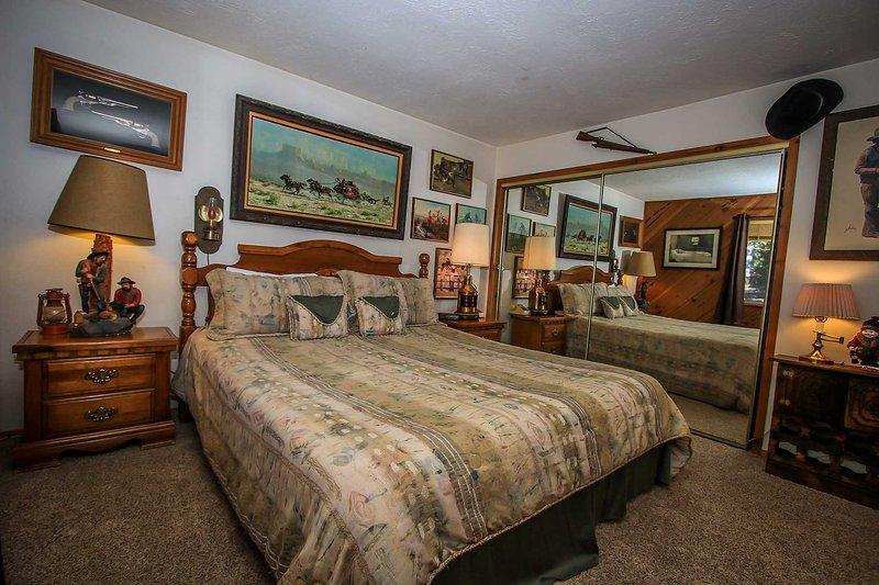 Cama, dormitorio, mobiliario, arte, Pintura