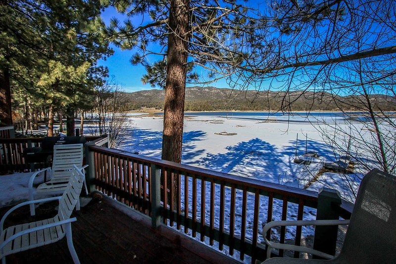 Lower Downstairs Side Deck With Lake Views