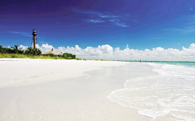 Sanibel's uncrowded  sugar sand beaches stretch for miles and miles.