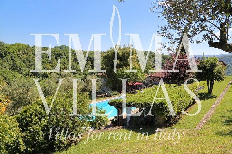 Villa Cervarola 6+2, location de vacances à Lusuolo