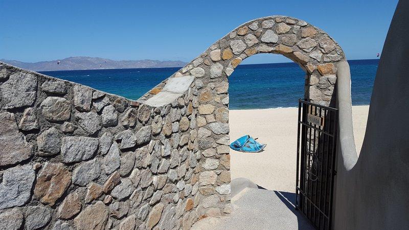 Mokies escaliers à la plage