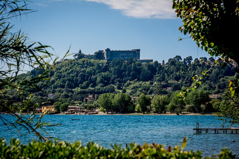 the view of the castle from the villa