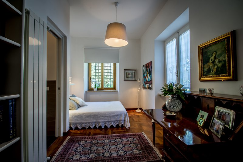 The bedroom downstairs