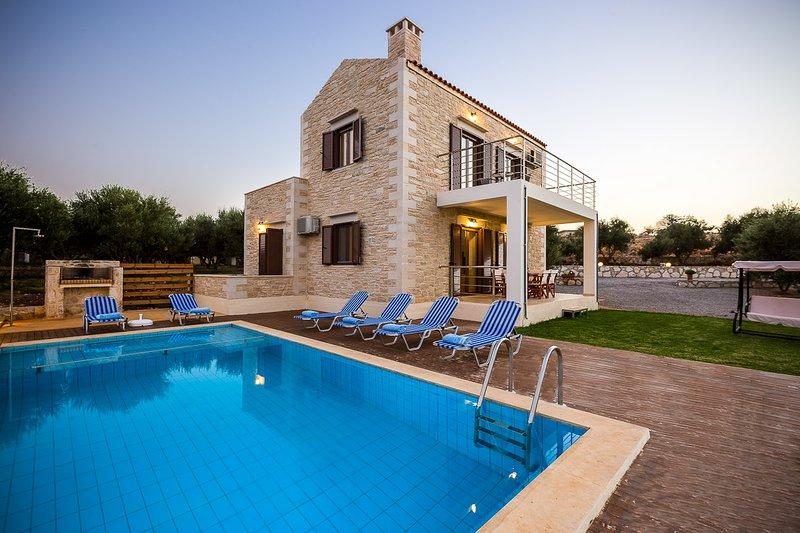 Dimokritos Villa III, is a brand new, two level villa!