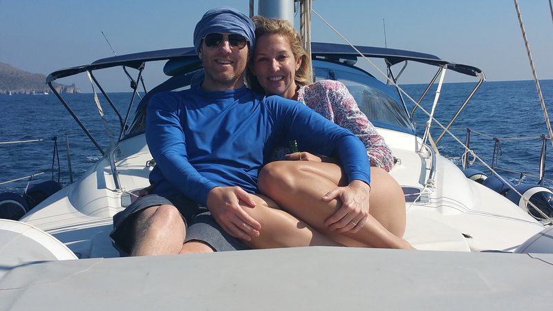 Guests on their honeymoon aboard our yacht