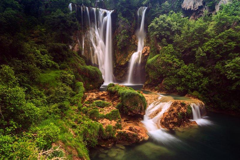 Environs du magnifique parc national de Krka