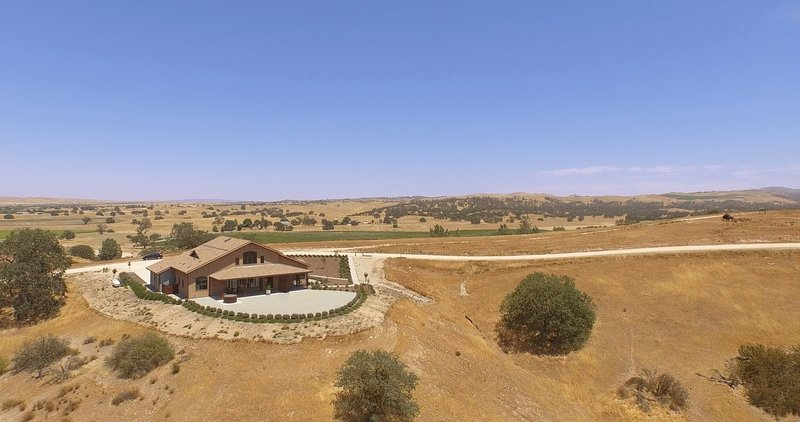 Aerial view of the main Villa.