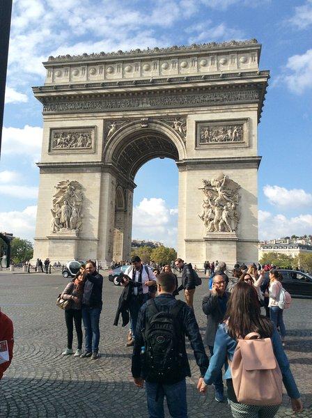 Rond Point Champs Elysees Etoile Arc de Triomphe