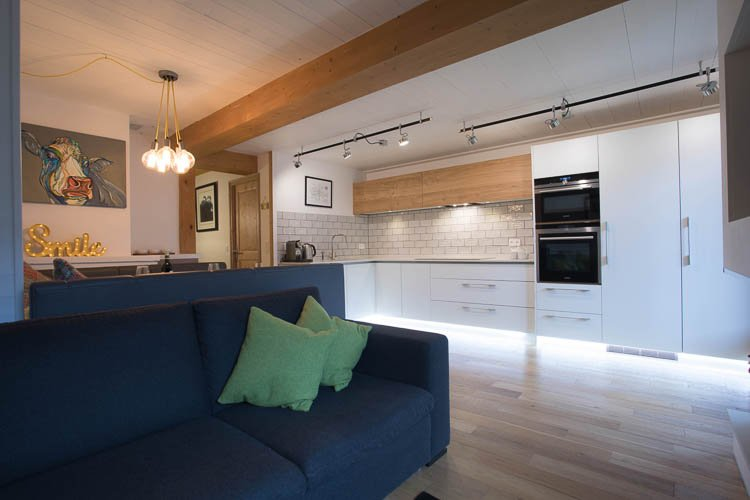 Open plan lounge, kitchen and diner