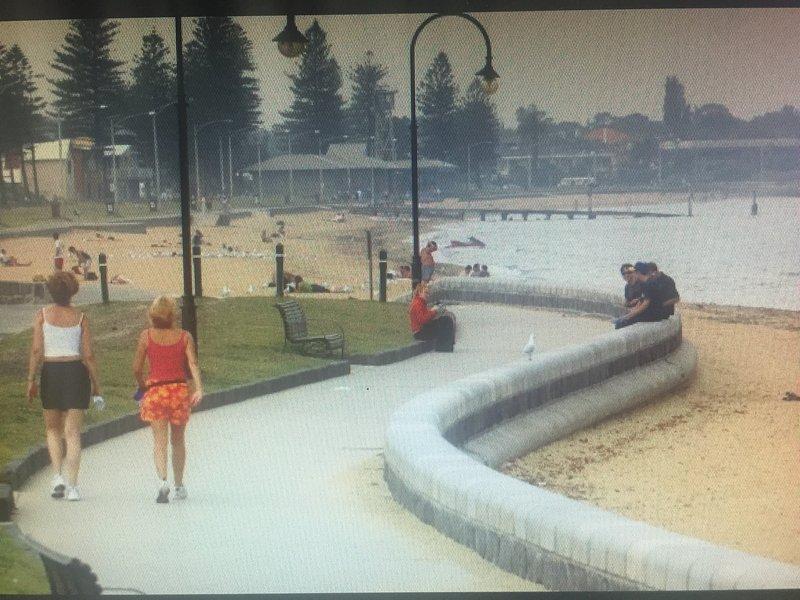 Magnificent Elwood beach, a minute's walk away