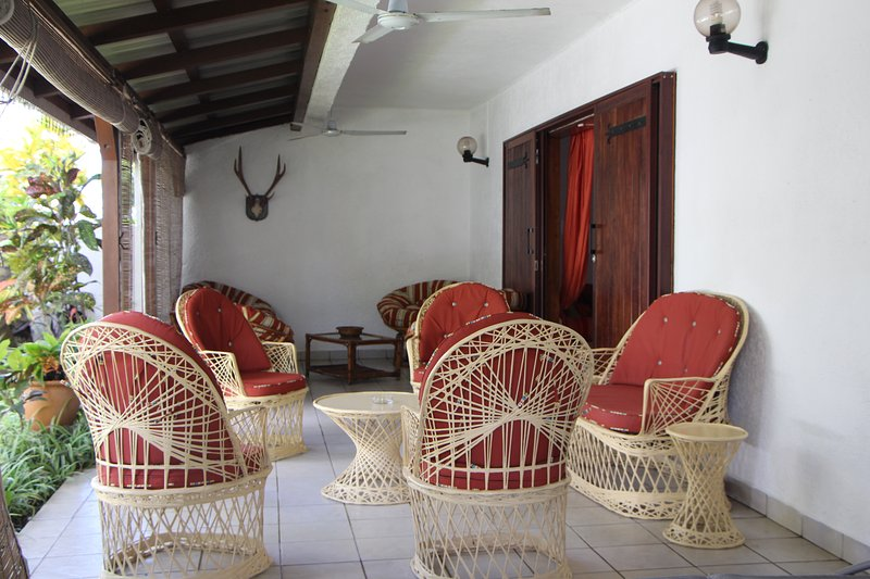 Spacious terrace well furnished